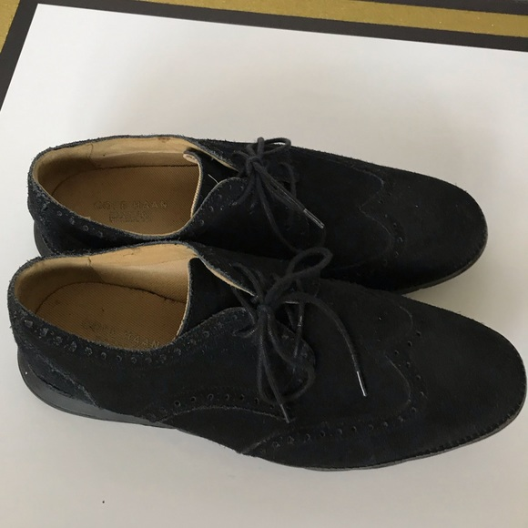 Cole Haan Grand Os Black Suede Mens